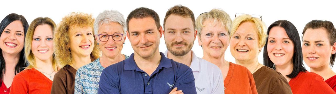 Das Praxisteam der Zahnarztpraxis in Kaufbeuren